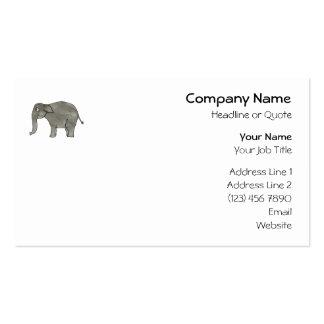 Elefante asiático tarjetas de visita