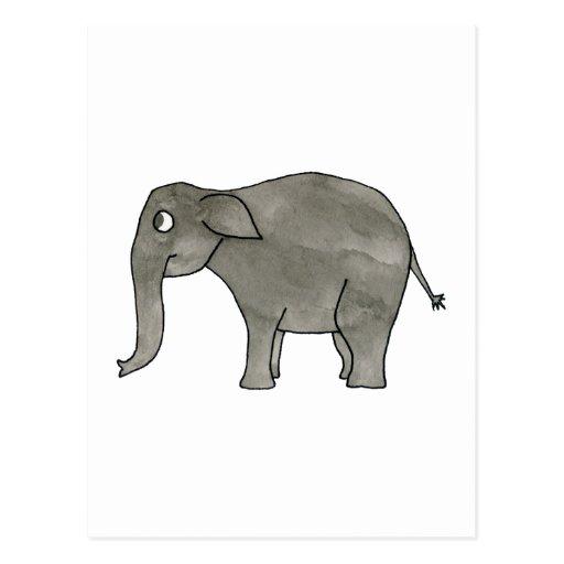 Elefante asiático tarjetas postales