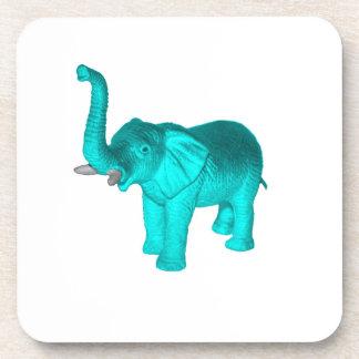 Elefante azul claro posavasos de bebidas