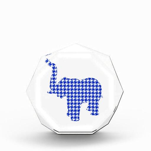 Elefante azul de Houndstooth