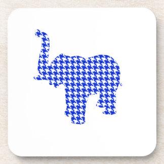 Elefante azul de Houndstooth Posavaso