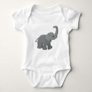 elefante azul de la fiesta de bienvenida al bebé polera