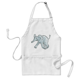 Elefante azul lindo delantal