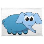Elefante azul Placemat Manteles