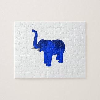 Elefante azul puzzle