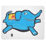 Elefante azul tonto del color de encargo cuadernos grapados