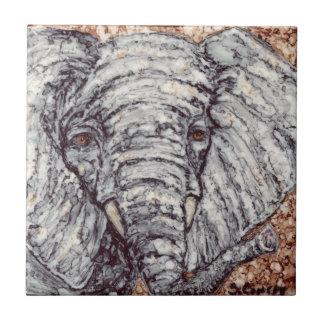 Elefante Azulejo Cuadrado Pequeño