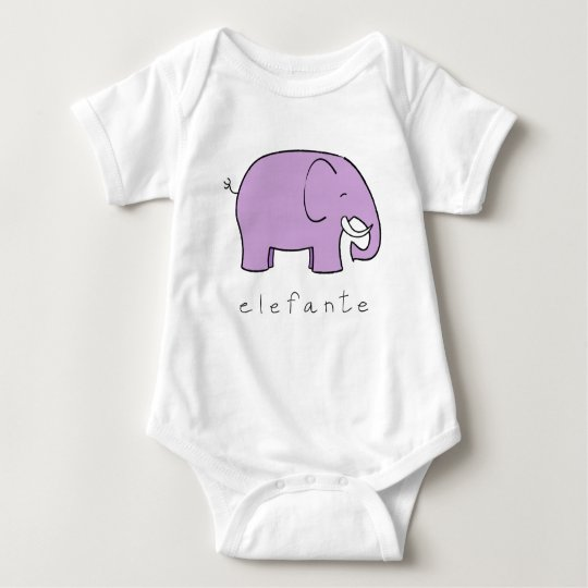 elefante baby bodysuit