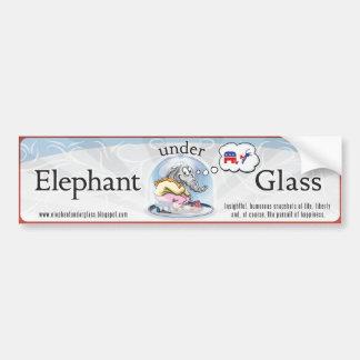 Elefante bajo pegatina para el parachoques de cris pegatina para auto
