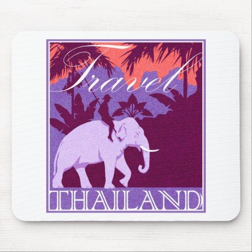 Elefante blanco de Tailandia del viaje Alfombrillas De Raton