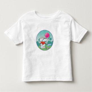 elefante blanco lindo con el globo playera de bebé
