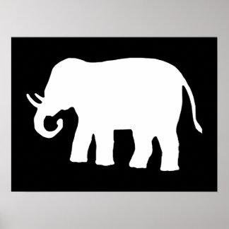 Elefante blanco poster
