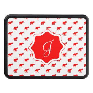 Elefante blanco rojo rojo del polkadot tapa de remolque