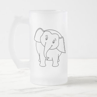 Elefante blanco soñoliento. Historieta Taza De Café