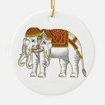 Elefante blanco tailandés de Erawan Adorno Redondo De Cerámica