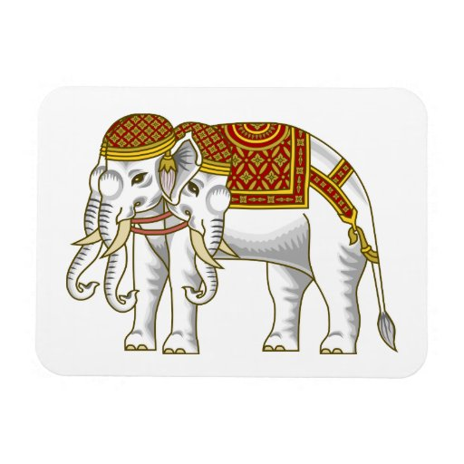 Elefante blanco tailandés de Erawan Imanes Rectangulares