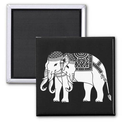 Elefante blanco tailandés de Erawan Imán Cuadrado