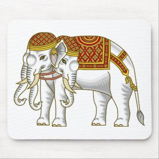 Elefante blanco tailandés de Erawan Tapetes De Raton