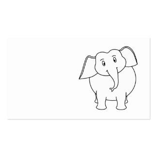 Elefante blanco tarjetas de visita