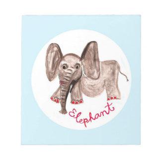 elefante bloc de papel