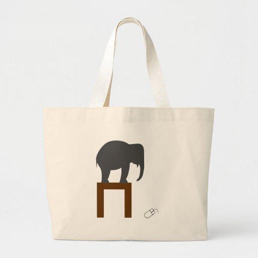 Elefante Bolsas Lienzo