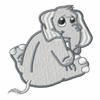 Elefante bordado lindo del bebé sudadera bordada con capucha