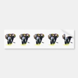 Elefante Etiqueta De Parachoque
