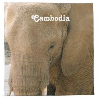 Elefante camboyano servilleta