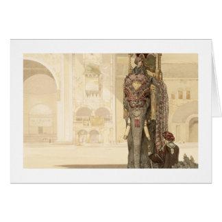 """Elefante ceremonial, """"del libro de la selva"""" por R Tarjeta De Felicitación"""