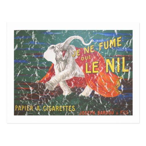 Elefante cigarettes-1900 - apenado tarjeta postal