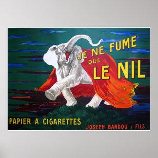 Elefante cigarettes-1900 poster