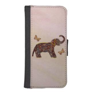 Elefante color de rosa exótico billetera para teléfono