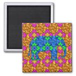 Elefante colorido brillante caprichoso de Paisley Imán