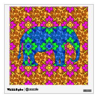 Elefante colorido brillante del circo del modelo vinilo adhesivo
