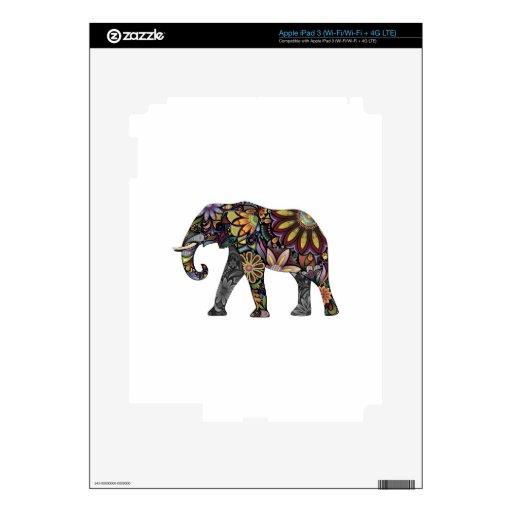 Elefante colorido iPad 3 pegatina skin