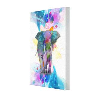 elefante colorido lindo de las salpicaduras de los lona estirada galerías
