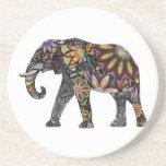Elefante colorido posavasos manualidades