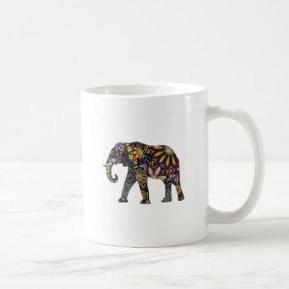 Elefante colorido taza clásica