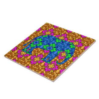 Elefante colorido Trivet de Paisley Azulejos Cerámicos