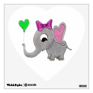 Elefante con el globo vinilo decorativo