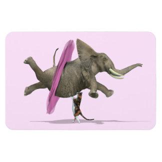 Elefante con el tutú rosado iman de vinilo