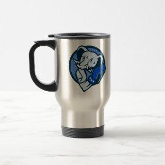 Elefante con la mascota de Demócrata de los guante Taza De Café