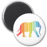 Elefante con las barras de color imán de nevera