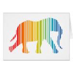 Elefante con las barras de color tarjetón