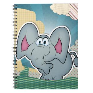 Elefante con las nubes pintadas texturas libro de apuntes