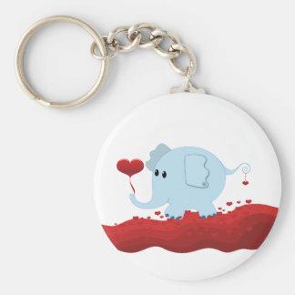 Elefante con los corazones llaveros