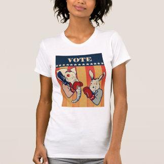 Elefante contra burro camiseta