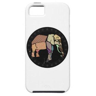 Elefante cosido funda para iPhone SE/5/5s