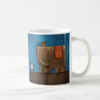 Elefante cuadrado taza de café