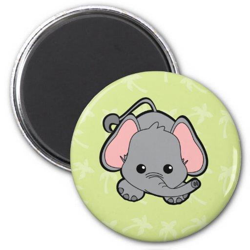 Elefante Cutie del bebé Imán Redondo 5 Cm